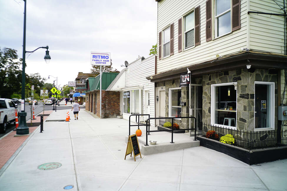 A view looking down the newly improved pedestrian area along New Scotland Avenue between Ontario Street and Quail Street on Monday, Sept. 23, 2019, in Albany, N.Y. (Paul Buckowski/Times Union)