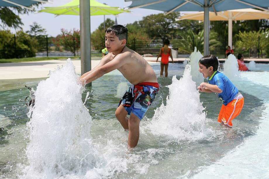 Indoor and outdoor swimming pools may operate at 25 percent capacity. Local public swimming pools can only operate if the local government permits, beginning Friday. Photo: Marvin Pfeiffer /Staff Photographer / Express-News 2019