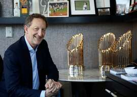 San Francisco Giants President and Chief Executive Officer Larry Baer sits for a portrait in his office at Oracle Park on Friday, September 13, 2019 in San Francisco, CA.