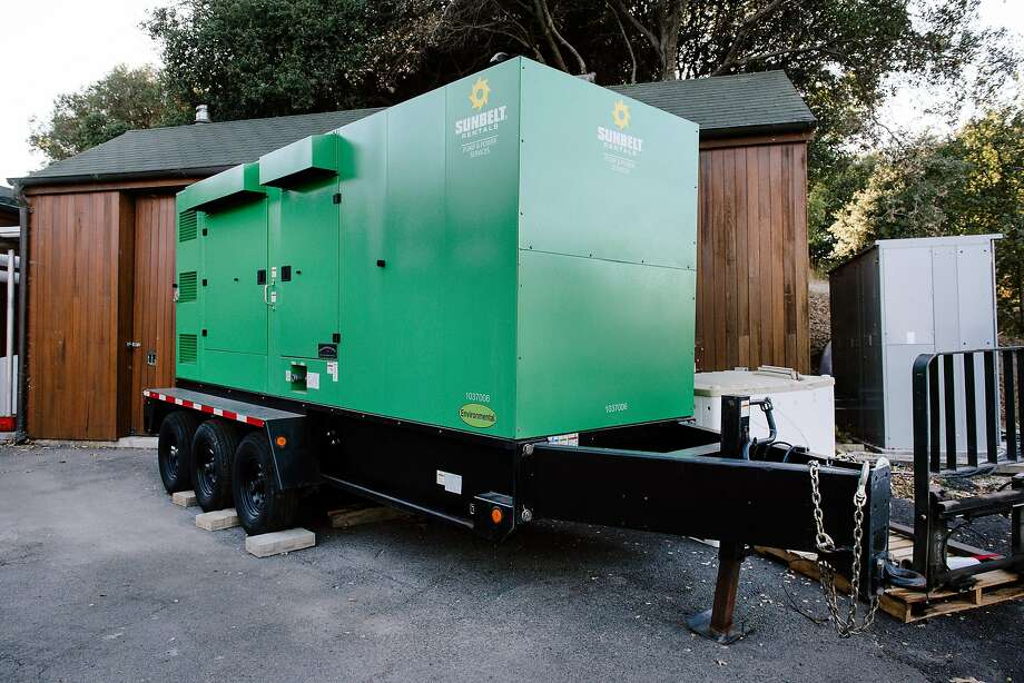 Bouchaine Vineyards in Napa rented this generator in case the power goes out, but it hasn't been tested yet. Photo: Michael Short / Special To The Chronicle