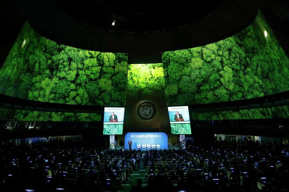 Una vista de la cumbre sobre el cambio climático en la sede de las Naciones Unidas en Nueva York el 23 de septiembre del 2019. Photo: Jason DeCrow /Associated Press / FR103966 AP
