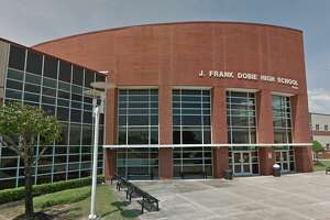 Dobie High School is pictured.