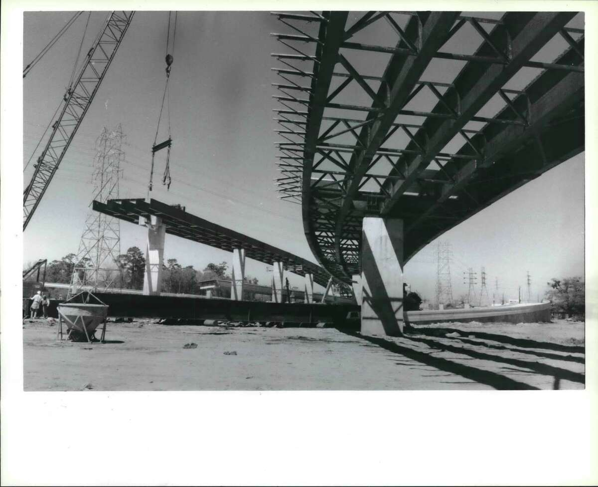March 10, 1988: Construction is under way at the North Loop and the Hardy Toll Road - a location where the county has offered a $1 million bonus as an incentive to contractors to meet a July 1 deadline to complete critical ramps. The ramps are expected to provide 80 percent of the traffic to the toll road.