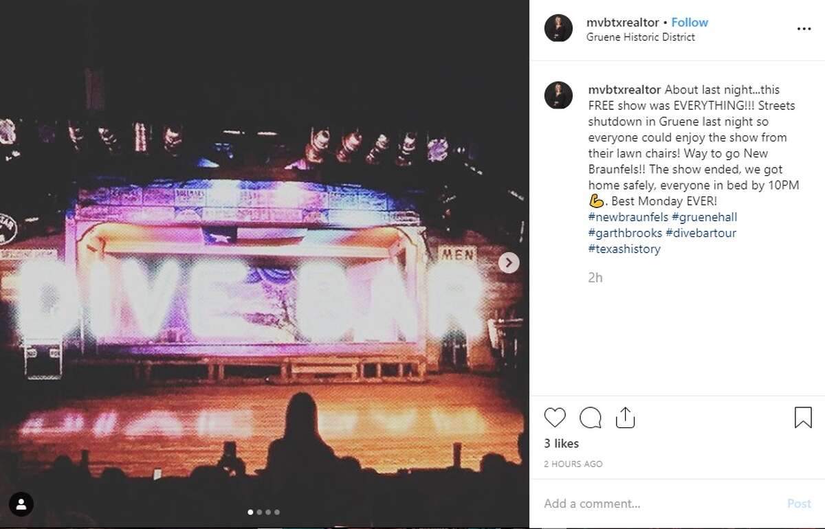 Garth Brooks traveled to New Braunfels Monday night, putting on the biggest Texas party Gruene Hall has ever seen as thousands of people surrounded the building just to catch a glimpse of him. And one would suspect, there was plenty of social media reaction to the performance.