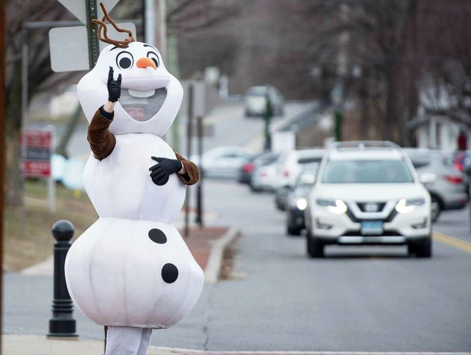 Olaf will greet visitors to Wilton's annual Winter Carnival on Sunday, Jan. 26 in Wilton Center. Photo: Bryan Haeffele / The Wilton Bulletin / Wilton Bulletin