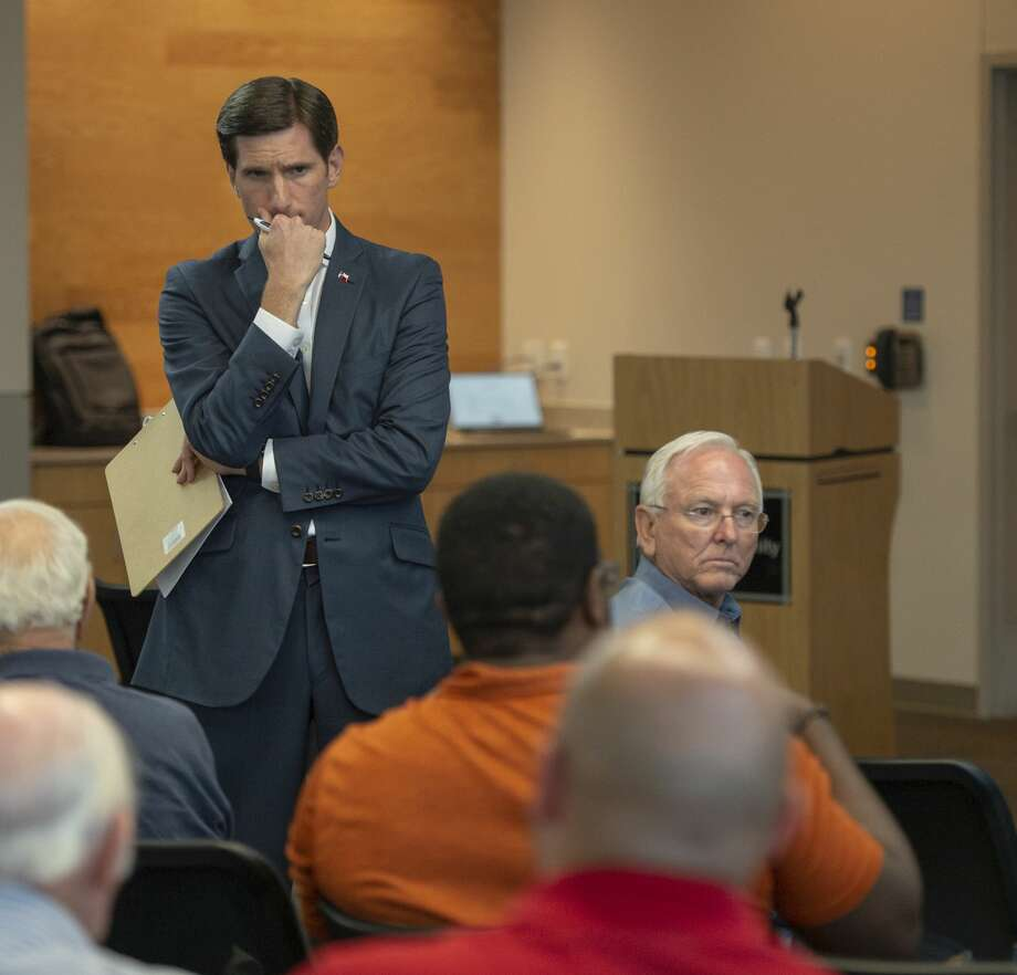 State Rep. Brooks Landgraf held a town hall Monday, Sept. 23, 2019 at Odessa College in the Saulsbury Building. Landgraf discussed his past legislative session including Monica's Law Permian Basin roads, state tax rates, and the Grow Texas fund. He talked with constituents about gun laws and how to handle mass shooting alerts. Photo: Jacy Lewis/Reporter-Telegram