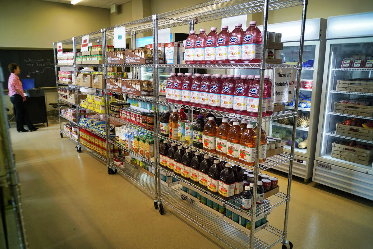 A view of the Catholic Charities Sister Maureen Joyce Food Pantry inside the Hoffman Family Center, on Tuesday, Sept. 24, 2019, in Albany, N.Y. (Paul Buckowski/Times Union)