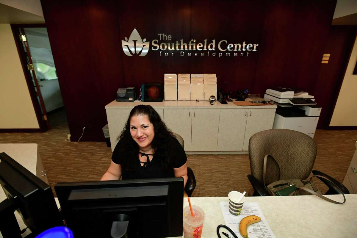Southfield Center receptionist Christi Zacarola at the Southfield facility Wednesday, September 11, 2019, in Darien, Conn. The Southfield Center for Development is a family-centered, interdisciplinary practice dedicated to providing comprehensive evaluations and integrated interventions addressing a wide range of ages and challenges.