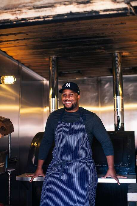 Chef Matt Horn of Horn BBQ poses for a portrait at the restaurant's soon to be open location in Emeryville, Calif. on Thursday, September 19, 2019. Photo: Stephen Lam / Special To The Chronicle