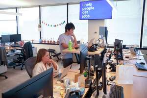 Employees of Indeed at its Stamford offices. The company is growing fast in Connecticut.