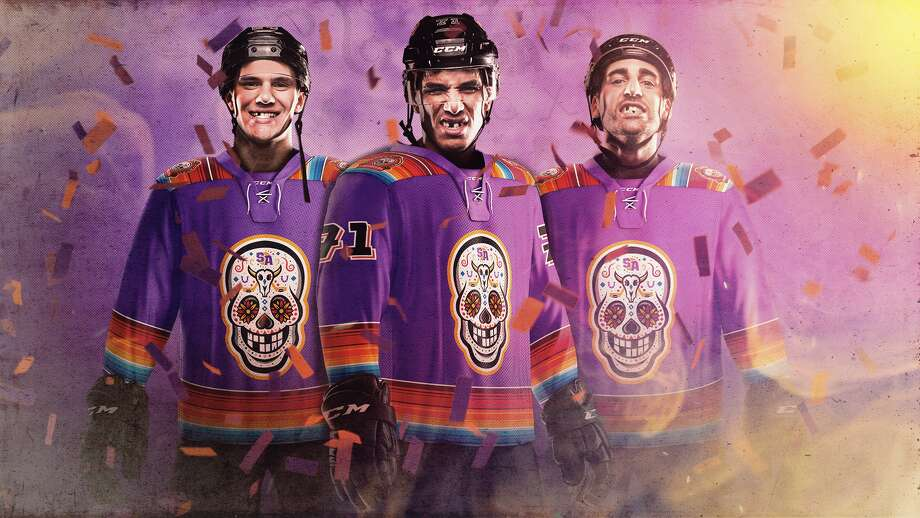 """Chimuelos"" is the alternate name for the Rampage, the city's American Hockey League team. Last season, Spurs Sports and Entertainment announced the Rampage would temporarily change identities to ""Los Chimuelos"" to honor the team's first-ever Día de los Muertos game and the city's rich Hispanic culture. Photo: Courtesy, Spurs Sports And Entertainment"