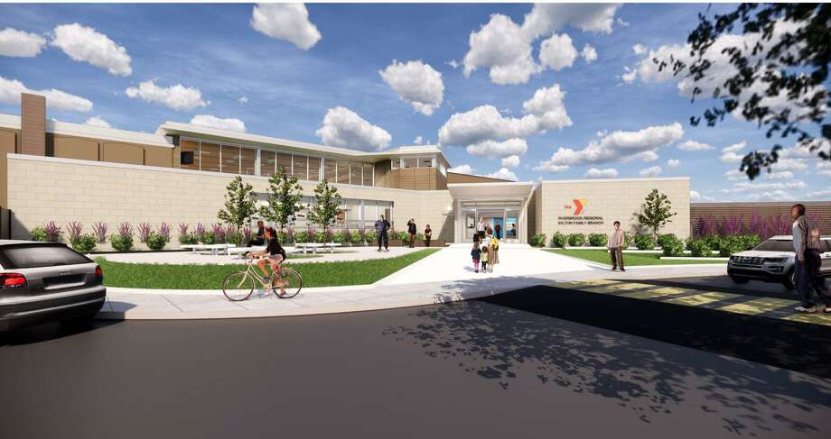 A rendering of the new front of the Riverbrook Regional YMCA in Wilton. Photo: Christene Freedman / Riverbrook Regional YMCA / Wilton Bulletin Contributed