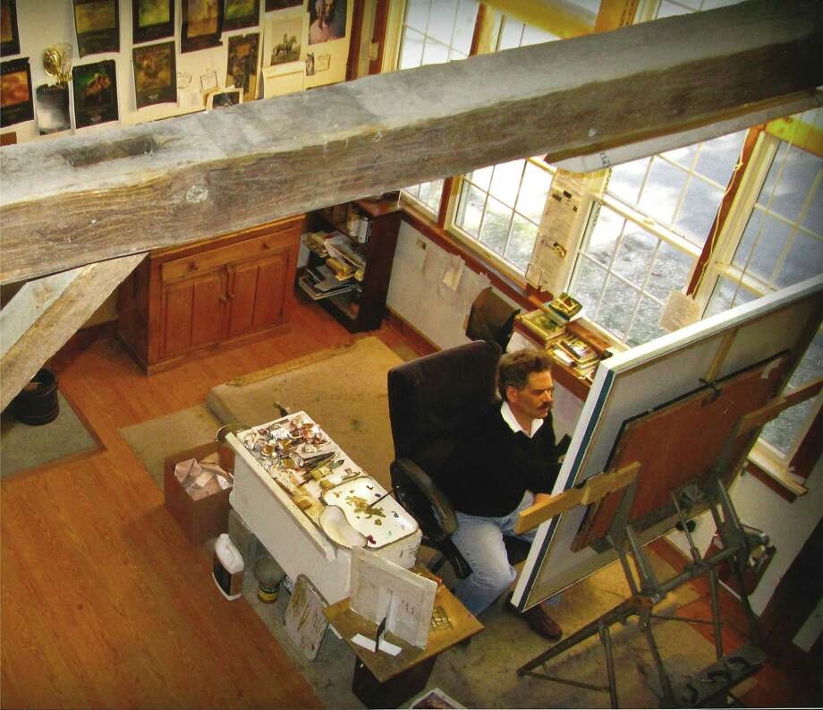 Bob Crofut as seen in his studio, he will be having a book signing and exhibit on Oct. 6. Photo: Ben Shaw / Contributed Photo
