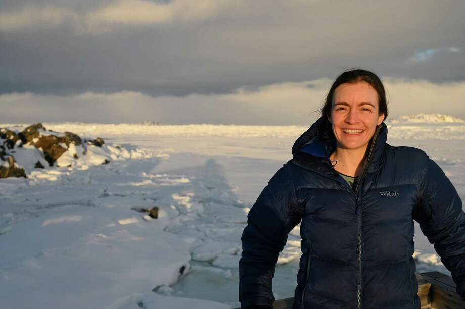 """Live via Skype, the Bruce Museum in Greenwich will welcome Kim S. Bernard, associate professor of biological oceanography at Oregon State University, currently based at Palmer Station in Antarctica, for a program called """"From the Bottom of the World: The Art and Science of Antarctica"""" on October 3. During a 15-minute interview, Bernard will answer questions from the audience about her research and her experience on the ice. Photo: Bruce Museum / Contributed Photo"""