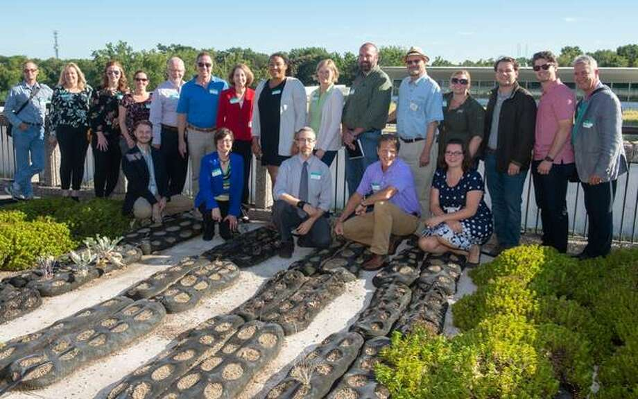 The Living Architecture Seminar concluded with a networking reception at SIUE's Fixin's Restaurant, which overlooks the University's garden roof. Photo: For The Intelligencer