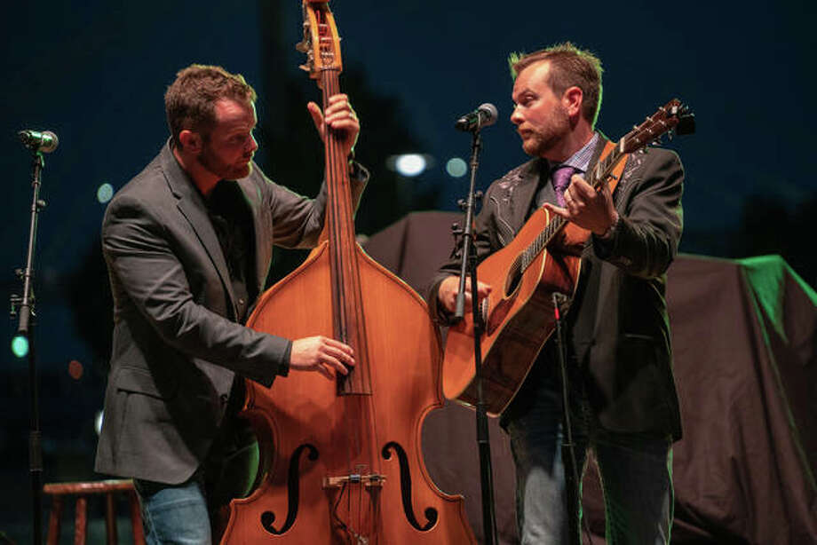 Local bluegrass band The Harmans perform during the annual Feed the Need concert at the Liberty Band Alton Amphitheater in 2018. Photo: Nathan Woodside | Telegraph File Photo