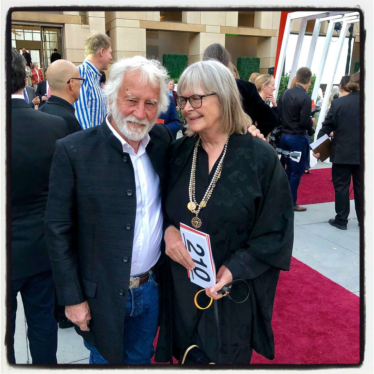 Burning Man temple sculptor David Best and his wife, Maggie Roth, at San Jose Museum of Art. Sept. 21, 2019.