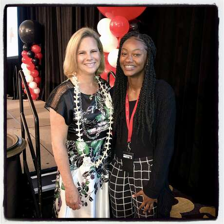 Kat Anderson (left) and scholarship student Mai Townsend. Photo: Catherine Bigelow / Special To The Chronicle