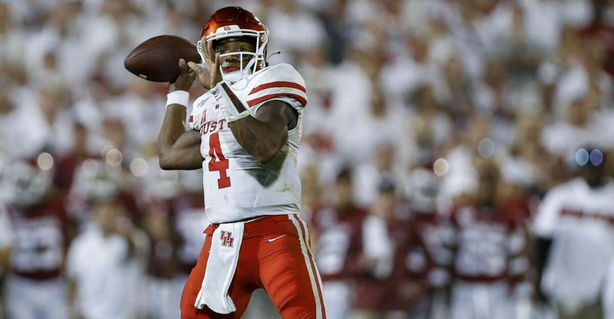 PHOTOS: UH vs. Tulane Houston Cougars quarterback D'Eriq King (4) throws a touchdown to wide receiver Marquez Stevenson (5) against the Oklahoma Sooners during the fourth quarter of an NCAA game at Gaylord Memorial Stadium Sunday, Sept. 1, 2019, in Norman, Oklahoma. The Sooners won 49-31. Browse through the photos to see action from UH's loss to Tulane.