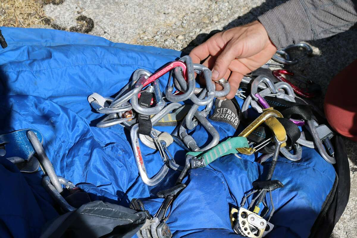 Scenes of abandoned climbing gear at the top of El Capitan peak in Yosemite National Park during the Yosemite Facelife cleanup event on Thursday, Sept. 27, 2018.