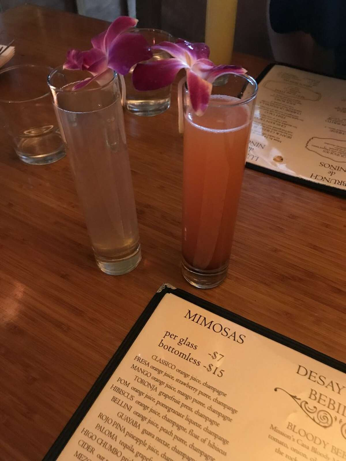 Mission Cantina: $15 bottomless mimosa