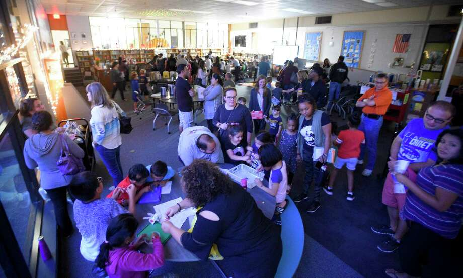 Stillmeadow Elementary School hosts the sixth Annual Reading Under The Stars Family Literacy Night in Stamford, Conn. on Sept. 24, 2019. Photo: Matthew Brown / Hearst Connecticut Media / Stamford Advocate