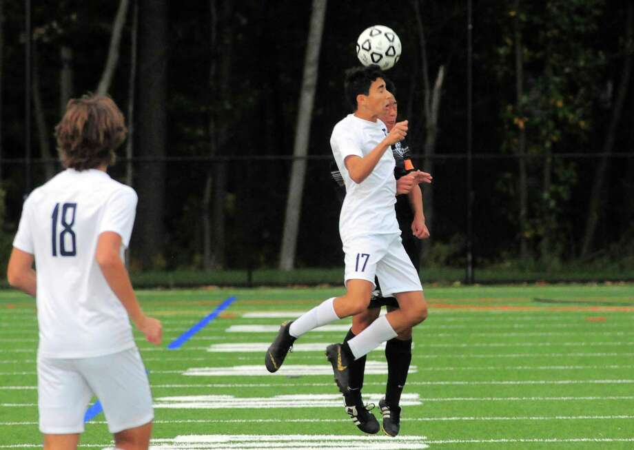 Boys high school soccer action between Trumbull and Staples in Trumbull, Conn., on Tuesday Sept. 24, 2019. Photo: Christian Abraham / Hearst Connecticut Media / Connecticut Post