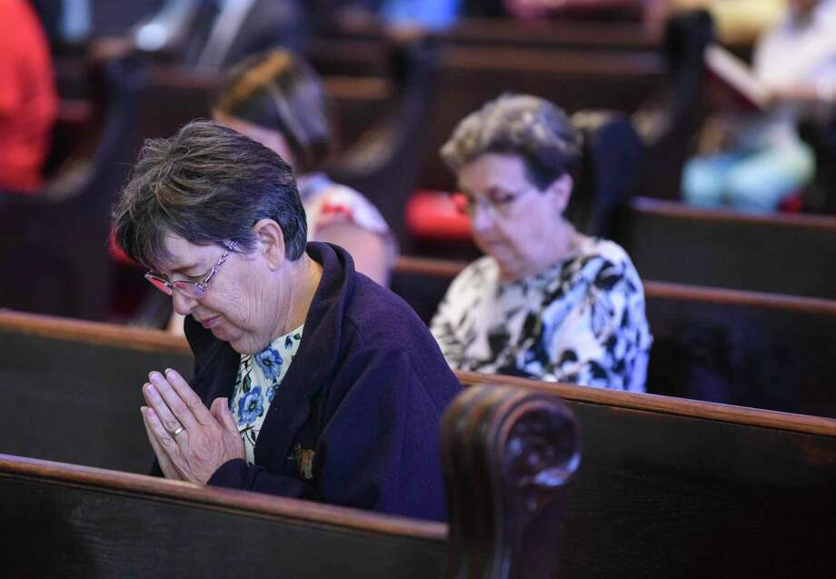 Mass at St. Anthony Cathedral Basilica on the first Sunday morning after Tropical Depression Imelda struck Southeast Texas. Photo taken on Sunday, 09/22/19. Ryan Welch/The Enterprise Photo: Ryan Welch / Ryan Welch/The Enterprise / © 2019 Beaumont Enterprise