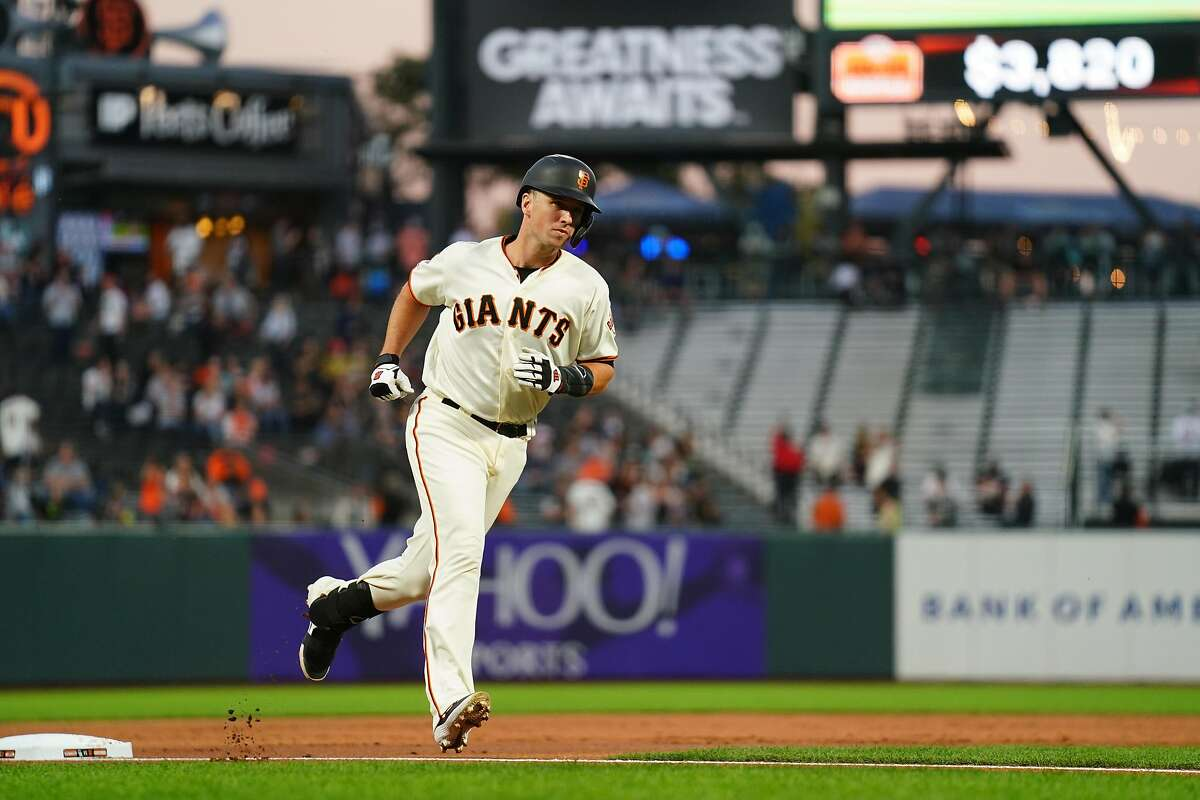 SAN FRANCISCO, CALIFORNIA - SEPTEMBER 24: Buster Posey #28 of the San Francisco Giants rounds the bases after hitting a two run home run during the first inning against the Colorado Rockies at Oracle Park on September 24, 2019 in San Francisco, California. (Photo by Daniel Shirey/Getty Images)