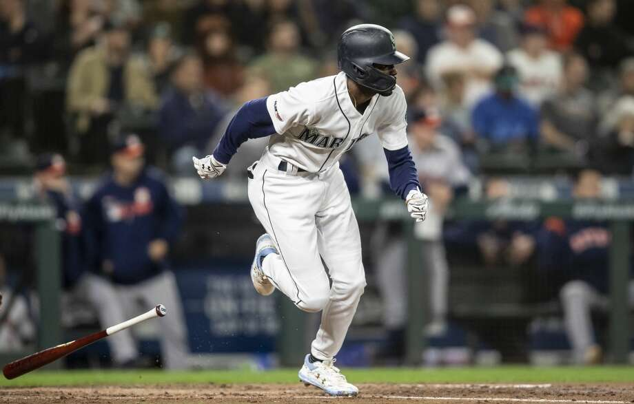 Infielder Dee Gordon is the Seattle Mariners' nominee for the 2020 Roberto Clemente Award, Major League Baseball announced Thursday. Photo: Stephen Brashear/Getty Images