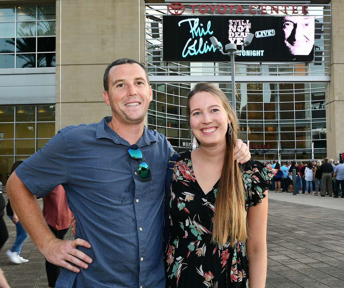 Fans outside the Phil Collins concert at the Toyota Center on Tuesday Sept. 24, 2019.