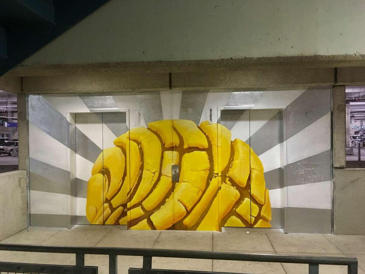 Local artist Eva Marengo Sanchez, 29, painted