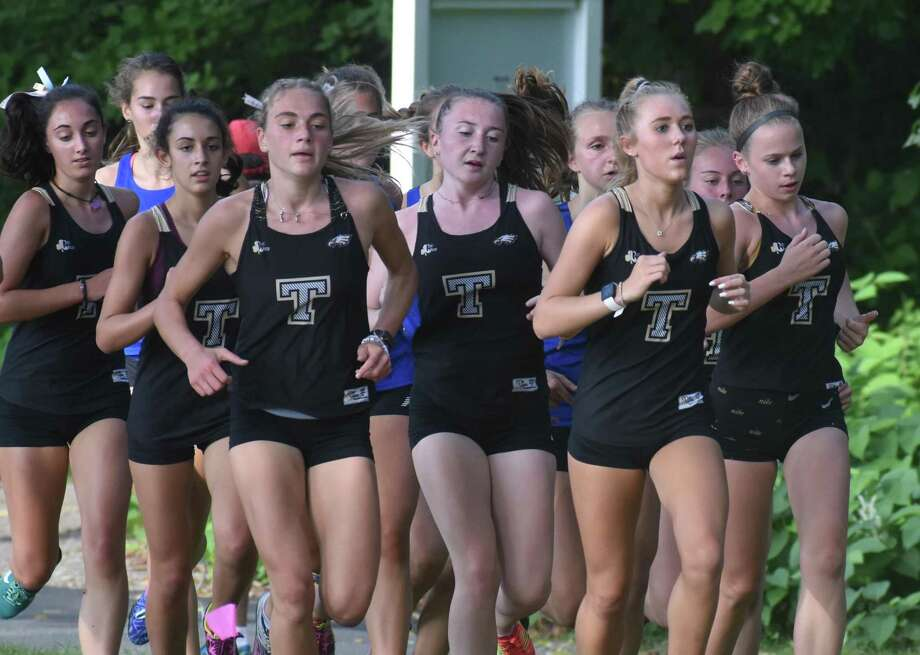 Trumbull's girls cross country team is unbeaten and ranked fourth in the state. Photo: Contributed Photo / Trumbull High Athletics / Trumbull Times