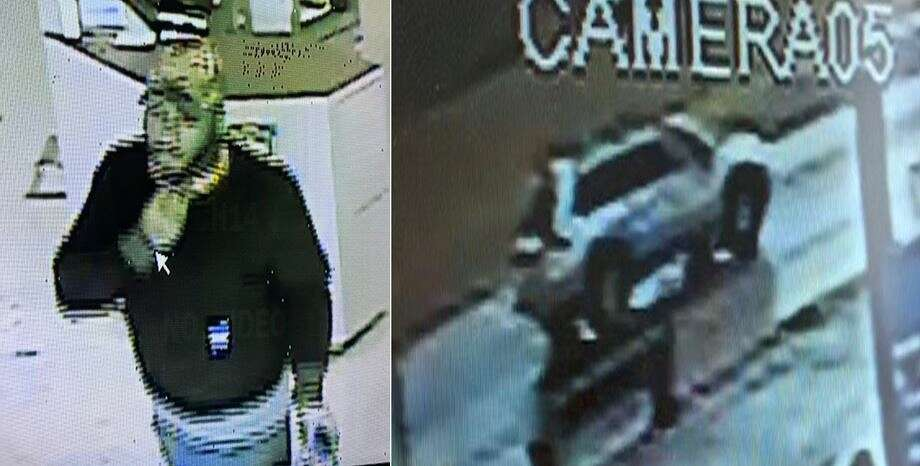 Crime Stoppers is looking for an unknown man who allegedly robbed a pawn shop at gunpoint. Photo: Crime Stoppers