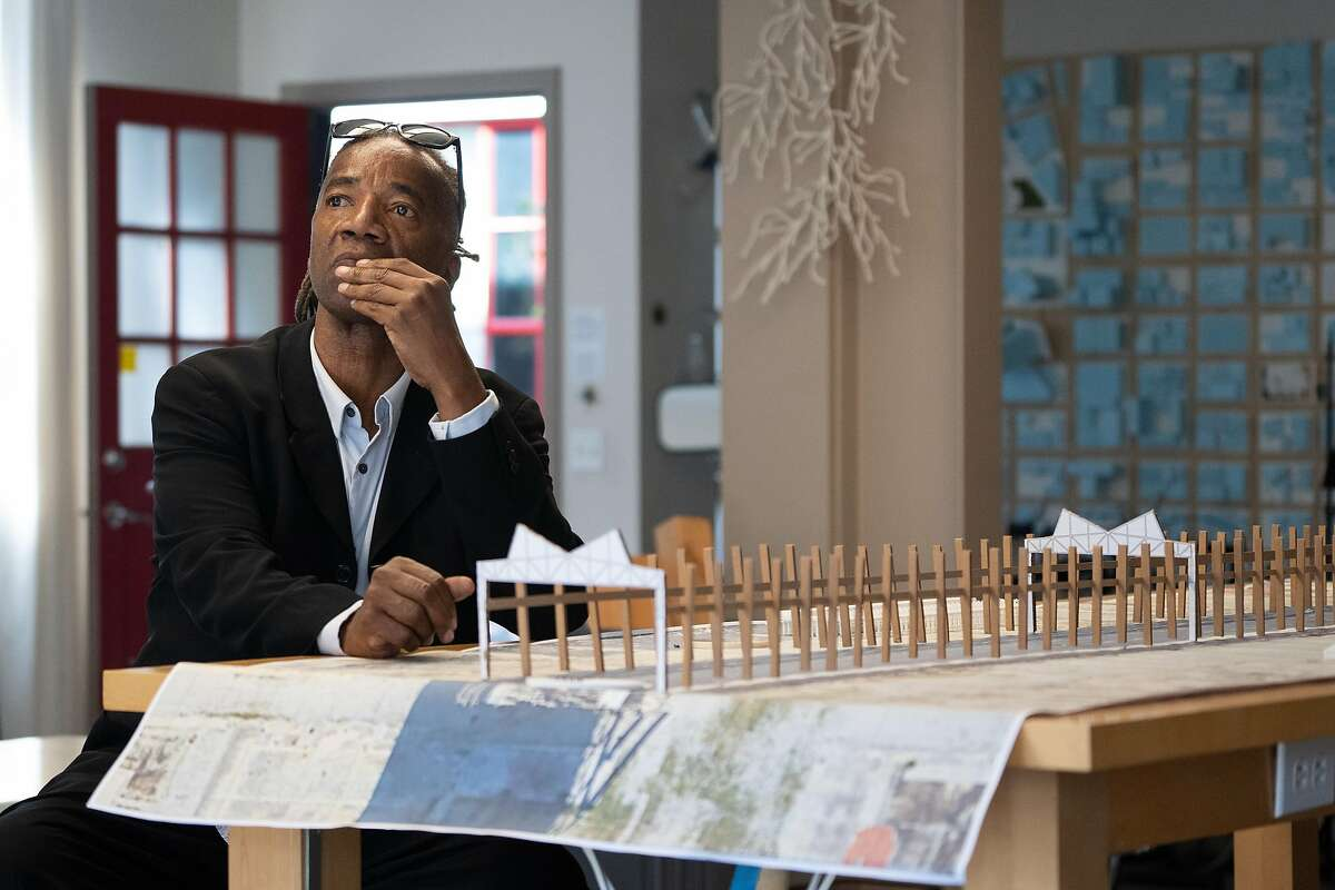 Walter Hood at his studio in Oakland. The public artist and UC-Berkeley professor of landscape architecture is one of the 26 recipients of the MacArthur Fellowship announced on Sept. 25, 2019.