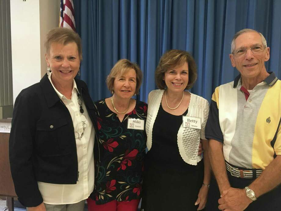 Long Hill Garden Club officers for the 2019-2020 program year were announced at their first meeting of the new program year, which was held on Monday, Sept. 23, at the Trumbull Library. Pictured are: President Christine Pfeiffer, Treasurer Miki Fetzer, Vice-President/Program Chair Betty White and Secretary Joe Puma. The program for the meeting was a presentation Summer and Autumn Wild Flowers of Connecticut, given by well-known Connecticut naturalists Peter and Barbara Rzasa, who won the Federated Garden Clubs of Connecticut Ellen Garden Memorial Award for their horticultural education programs. Themes for member horticultural exhibits were: Aster/chrysanthemum, herb, vegetable, house plant/other specimen. Themes for artistic design exhibits were American Traditional: Line or Creative: Angular. For morel information about the Long Hill Garden Club, visit longhillgc.org or call Fran Lichtenberg at 202-371-0778. Photo: Contributed Photo