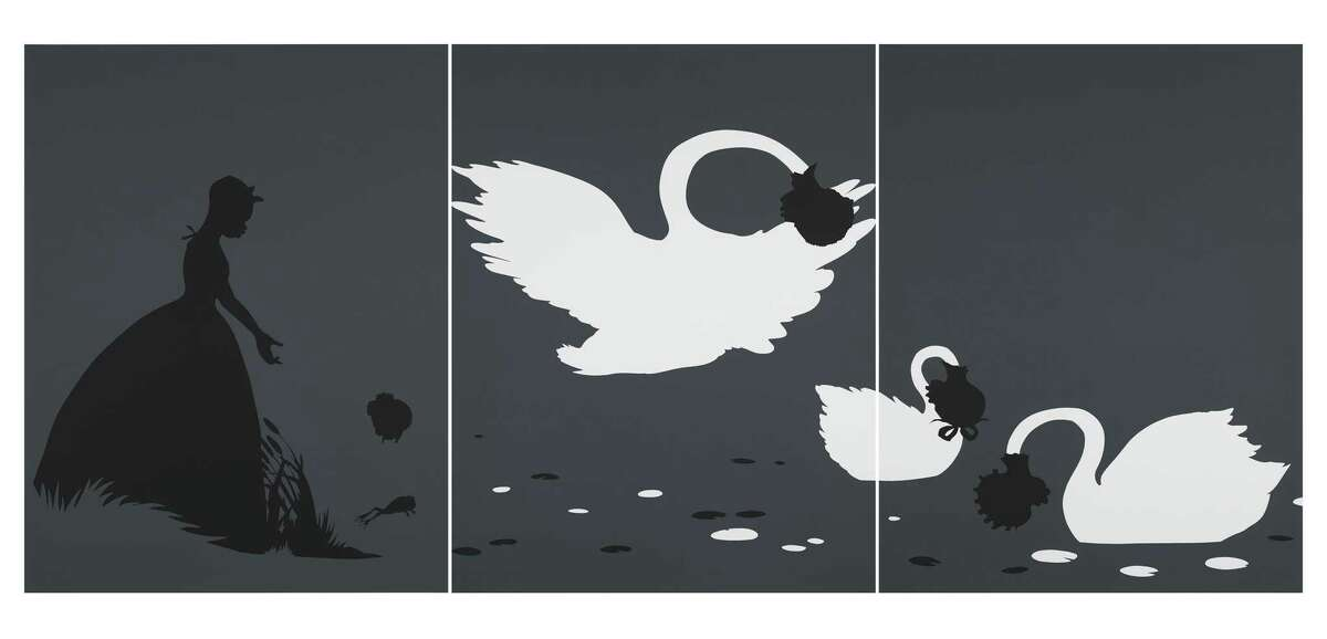 Kara Walker, The Emancipation Approximation, 1999-2000. Screen print on Somerest 500G paper, Tang Teaching Museum collection, gift of Michael Jenkins and Javier Romero. Photo courtesy the Tang