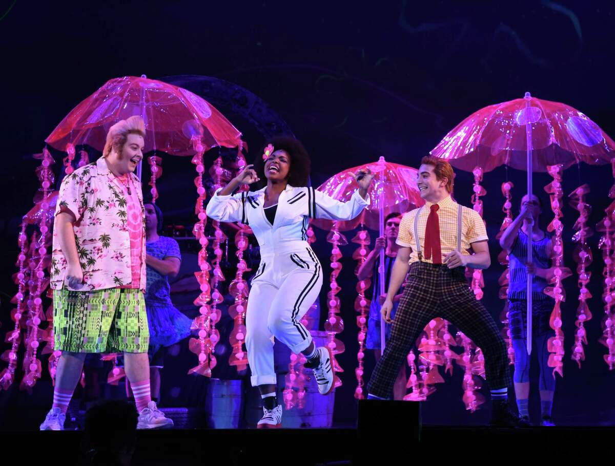 """Thursday, Friday and Saturday:""""The SpongeBob Musical"""" just launched its first national tour at Proctors and runs there through Saturday."""