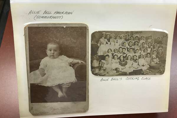 A vintage photograph in a photo album that San Antonian Mike Rodriguez purchased for $8 in a flea market.