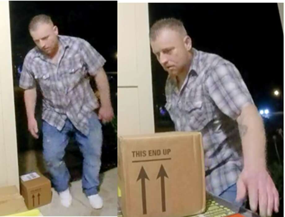 Williamson County Sheriff's Office is searching for man authorities said allegedly stole packages off a front porch.  Photo: Williamson County Crime Stoppers