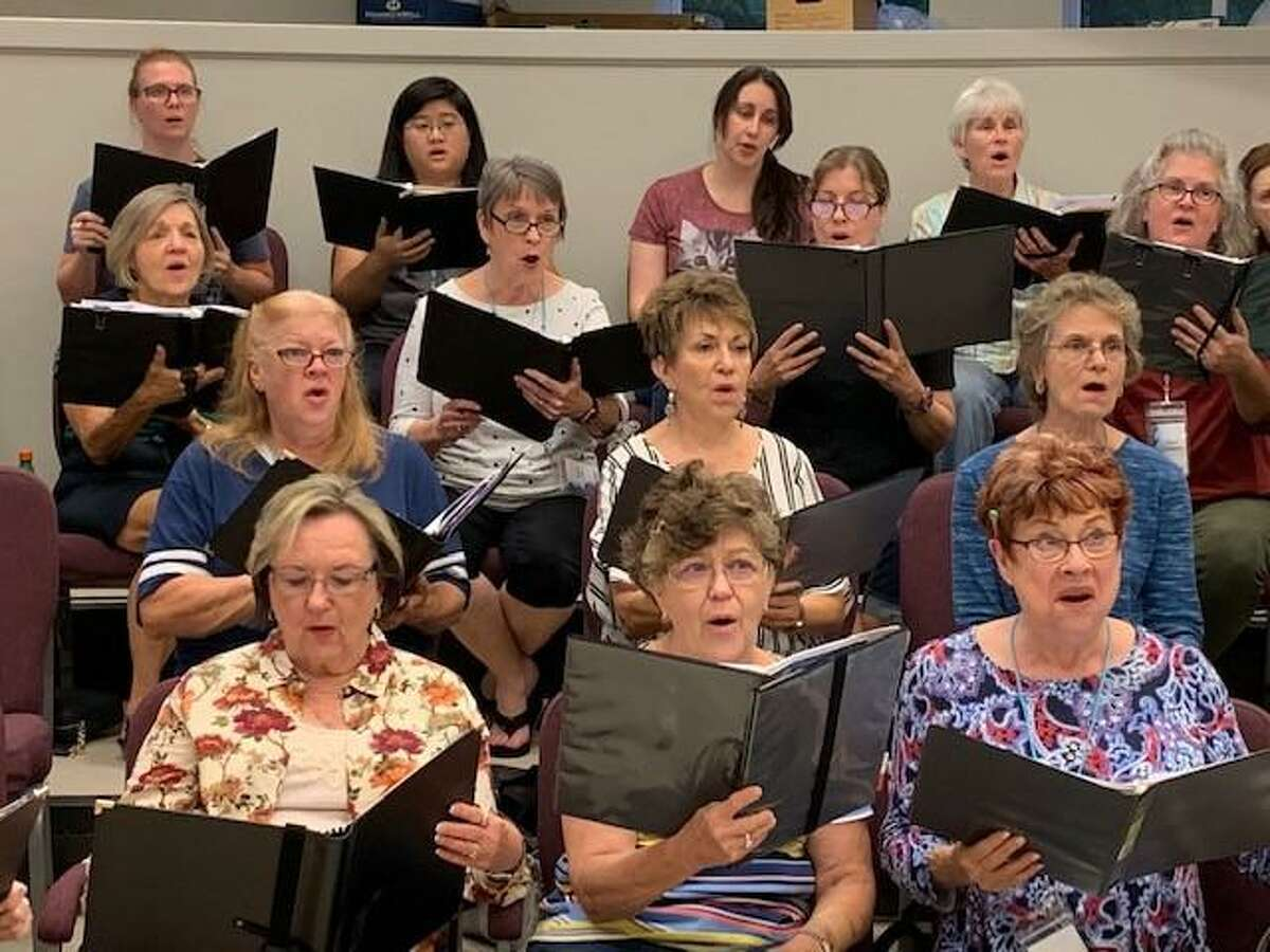 Members of the Montgomery County Choral Society rehearse. The group kicks off spring rehearsals again this week in preparation for their April 3 concert.