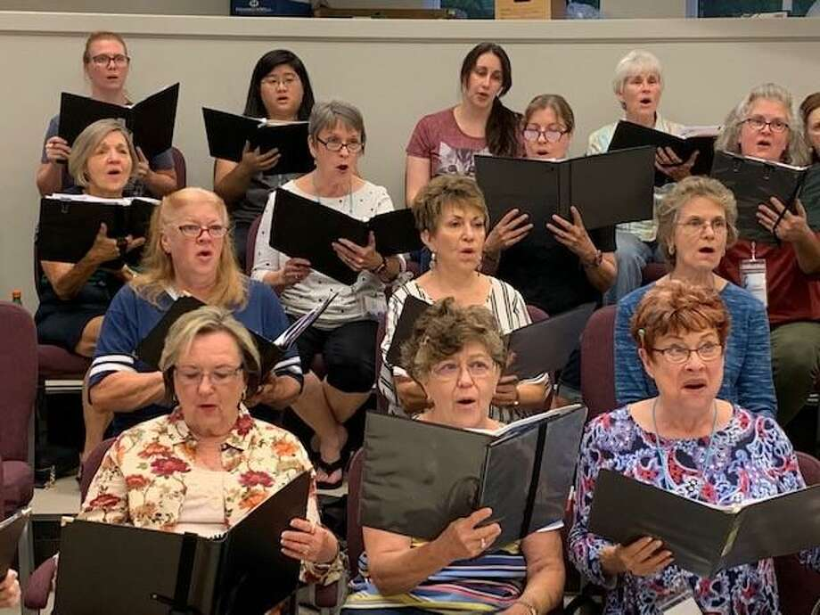 Members of the Montgomery County Choral Society rehearse. The group kicks off spring rehearsals again this week in preparation for their April 3 concert. Photo: Courtesy Photo