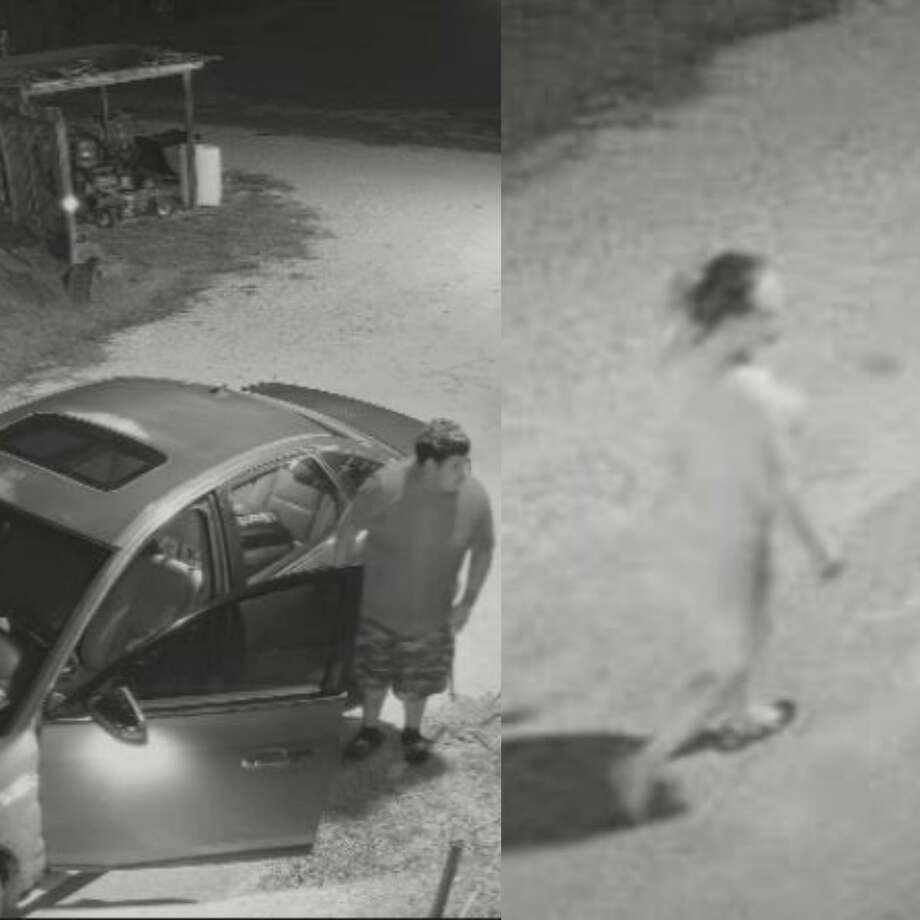 A man and woman are seen in surveillance footage on property in New Caney whose owners is alleging they stole hundreds in dollars in items. Photo: Courtesy Of The Montgomery County Sheriff's Office