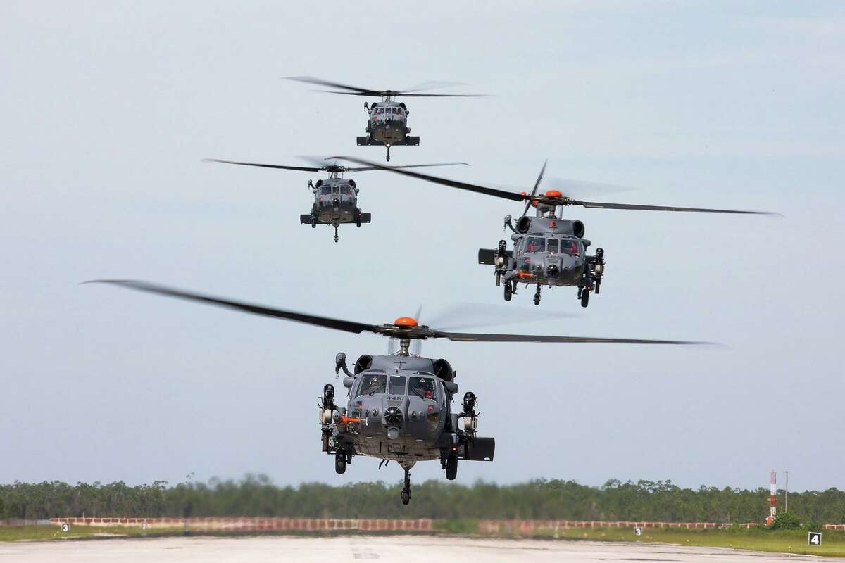 Sikorsky combat rescue helicopter prototypes for the U.S. Air Force.