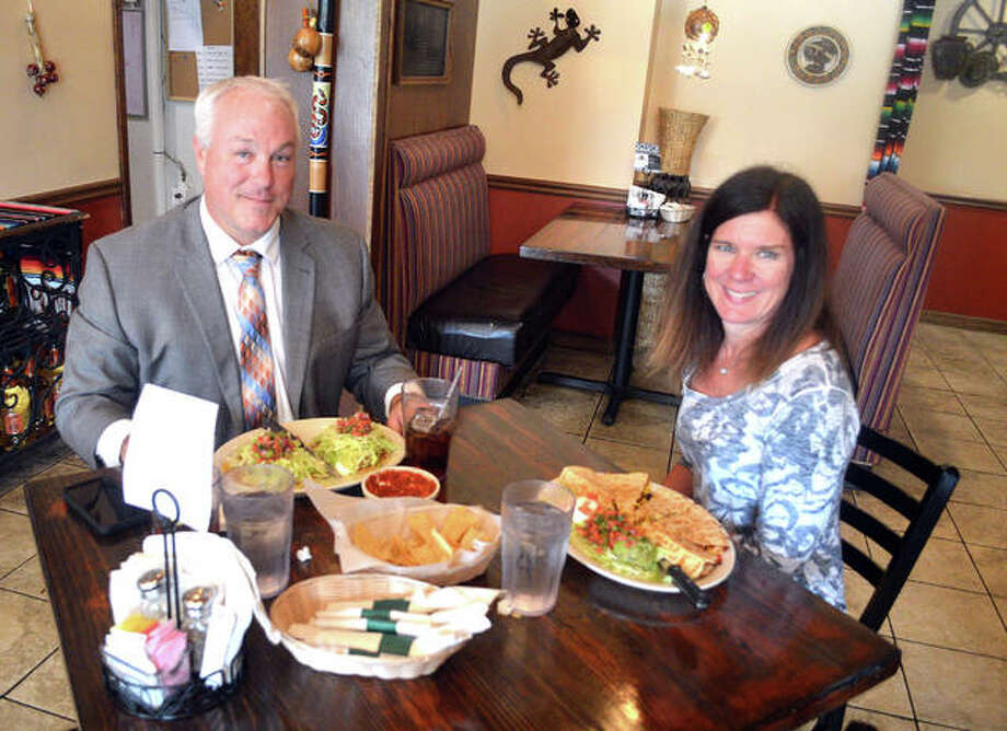 Brian and Donna Polinske of Edwardsville had lunch Tuesday at Chava's Mexican Restaurant, which is part of the SAVOR 2019 restaurant week campaign. Donna ordered the $10 SAVOR lunch special, a veggie quesadilla. Photo: Scott Marion/The Intelligencer