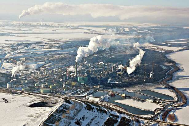 A reader says the U.S. is not a net energy exporter - Canada helps quite a bit. This Suncor Energy plant is in Alberta, Canada.