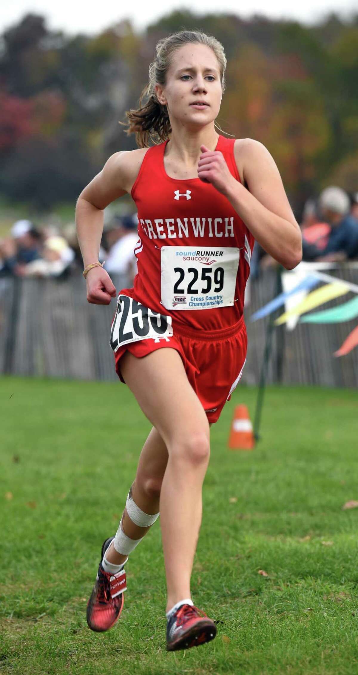 Greenwich's Mari Noble finished third at the State Open Cross Country Championship last season at Wickham Park in Manchester.