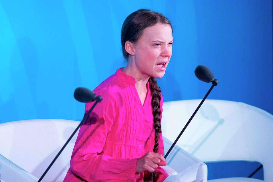Youth Climate activist Greta Thunberg speaks during the UN Climate Action Summit on Sept. 23, 2019 at the United Nations Headquarters in New York City. Photo: Johannes Eisele /AFP /Getty Images / AFP or licensors