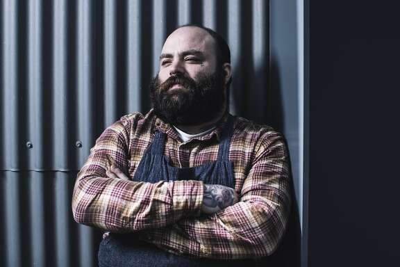 Seth Stowaway, executive chef of  Bar Agricole Group, stands for a portrait at Bar Agricole in San Francisco, Calif. on Friday, March 23, 2018.