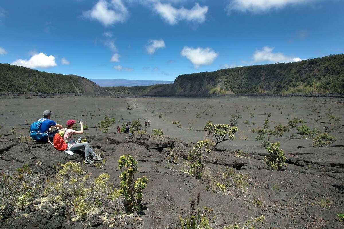 Resting on Kilauea Iki Trail